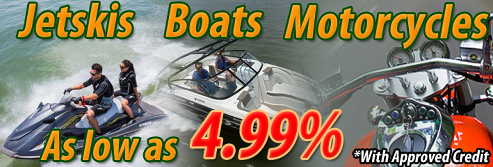 Loans for Motorcycles, Boats, and Jetskis