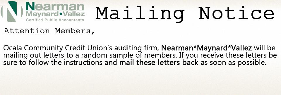 Mailing Notice