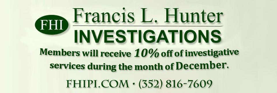 Francis L Hunter Investigations.