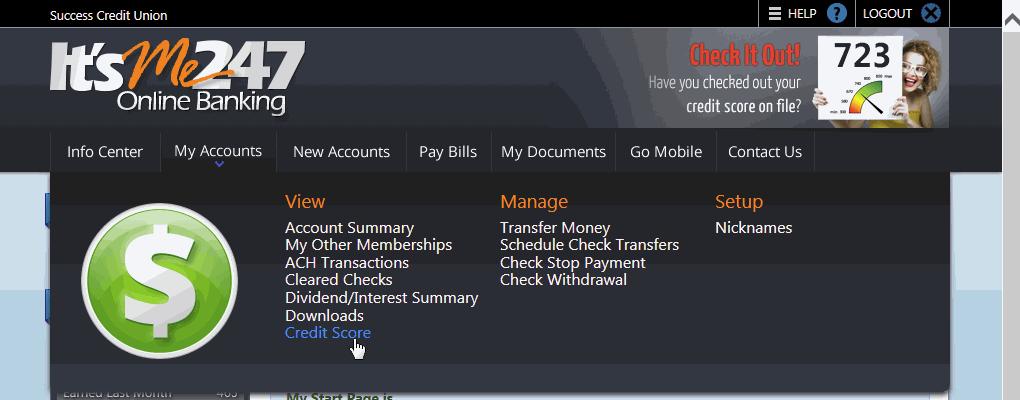 11-11-2015 Credit Score - Online Banking