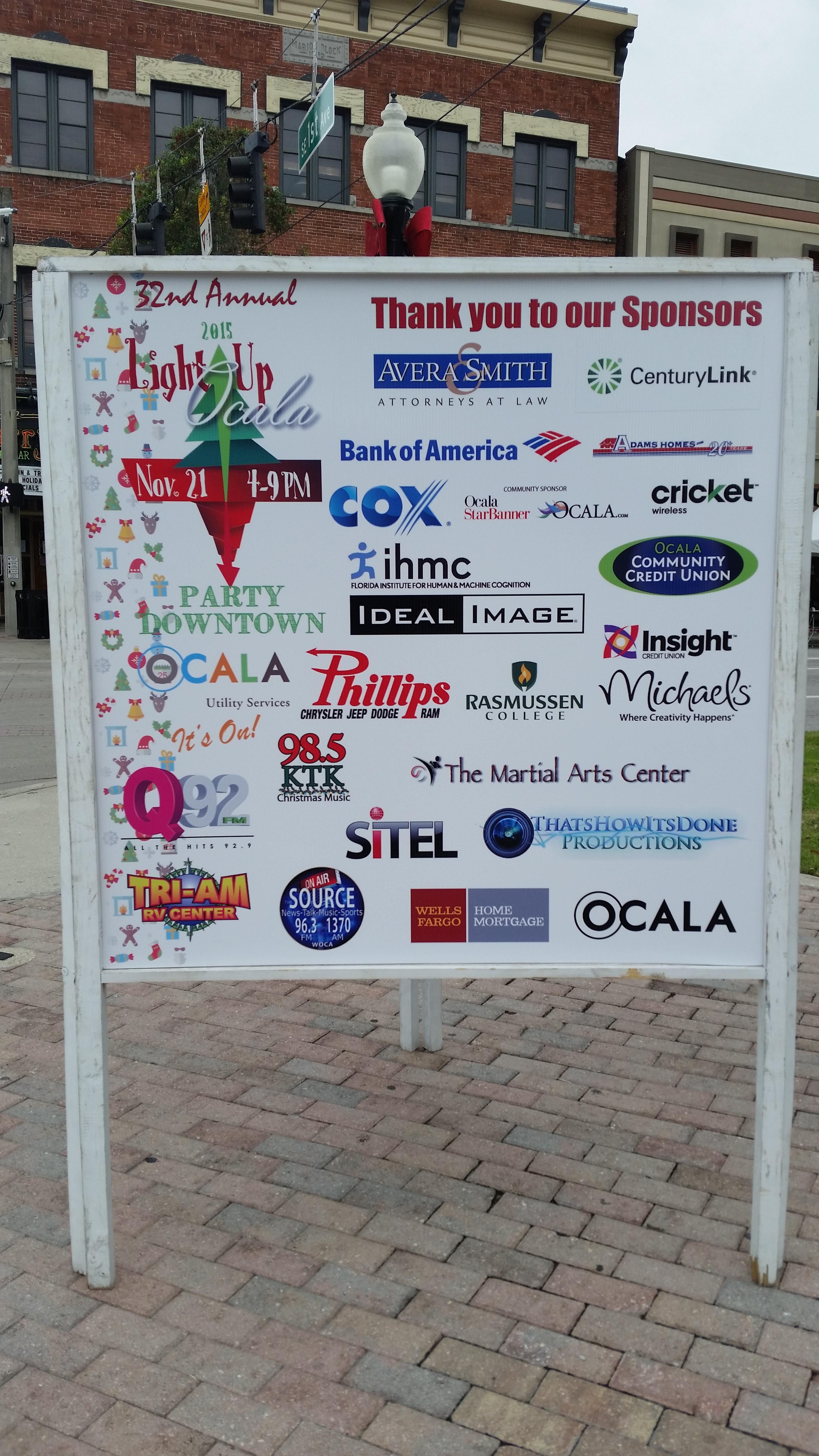 11-21-2015 Light Up Ocala Sponsors