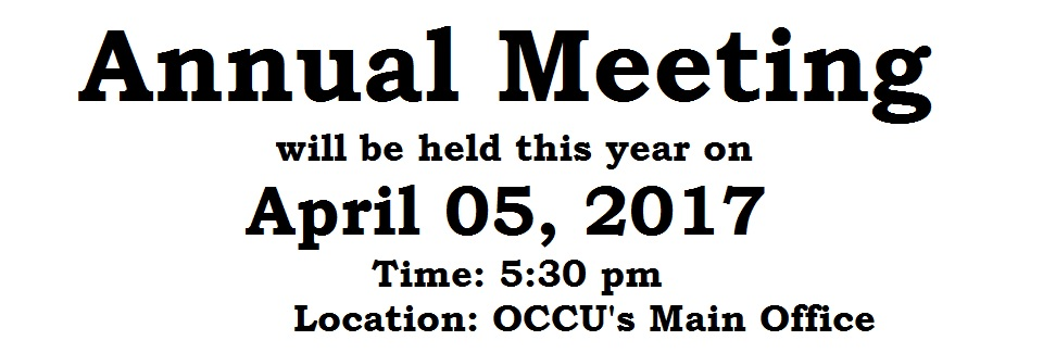 2017 Annual Meeting Announcement
