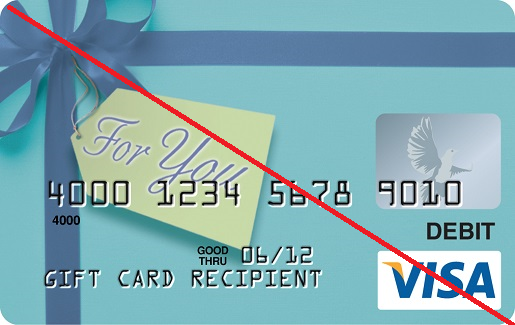 Discontinued Visa Gift Cards