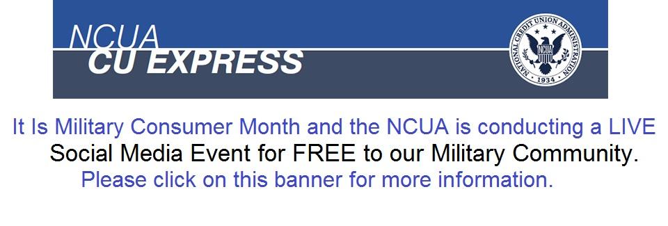 NCUA – Military Consumer Month