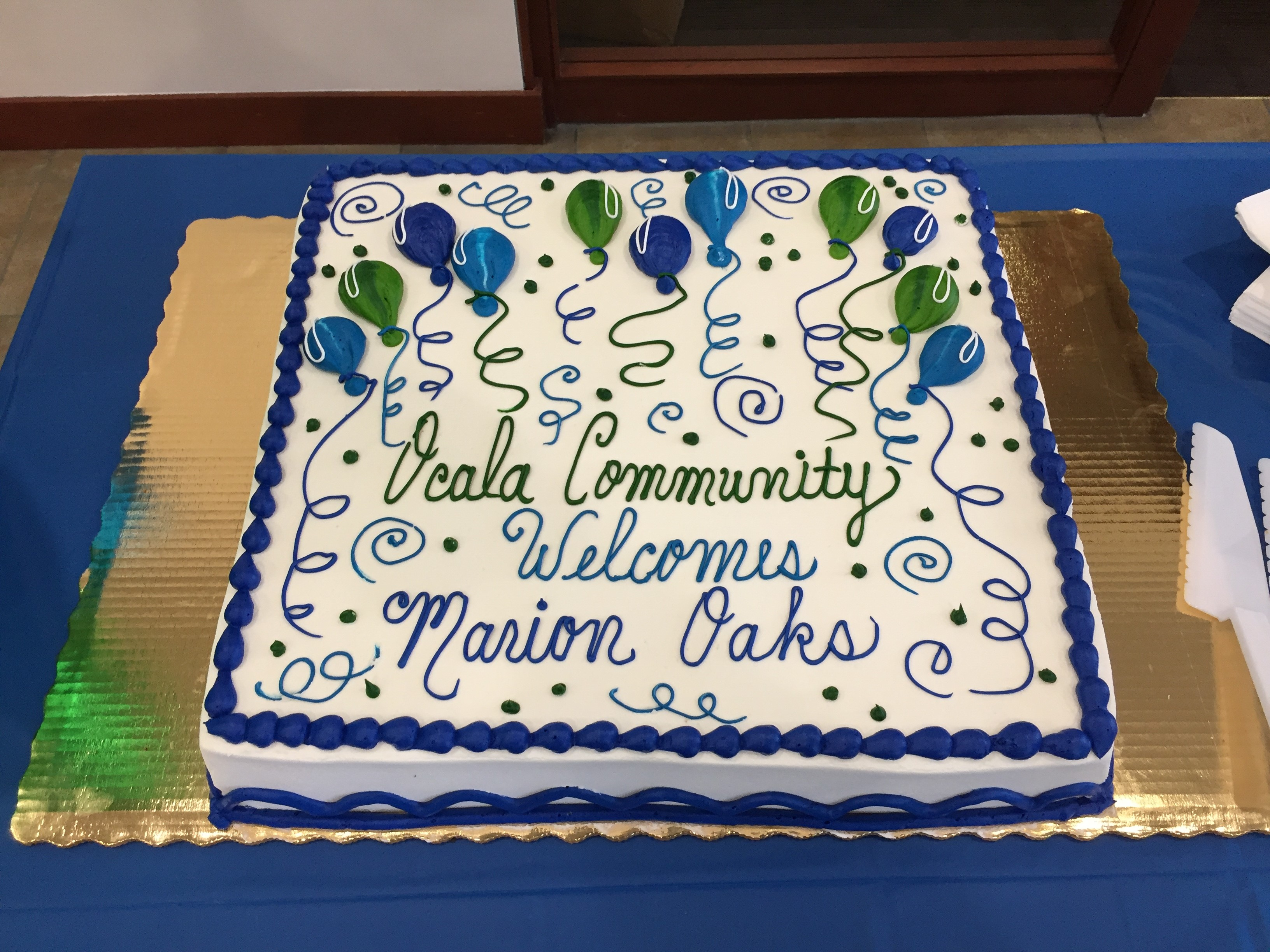 Marion Oaks Branch Ribbon Cutting - Cake