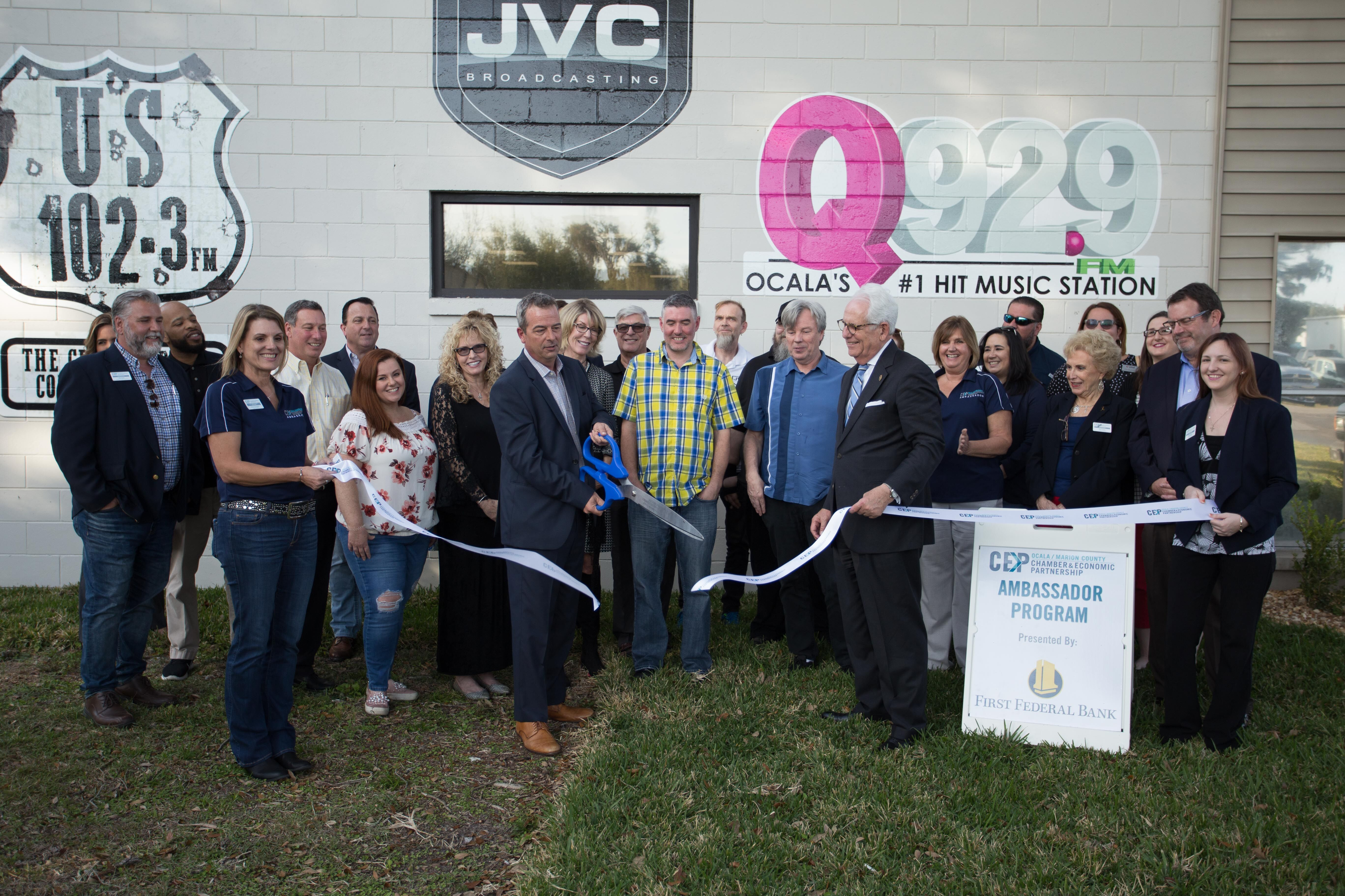 JVC Broadcasting Ribbon Cutting