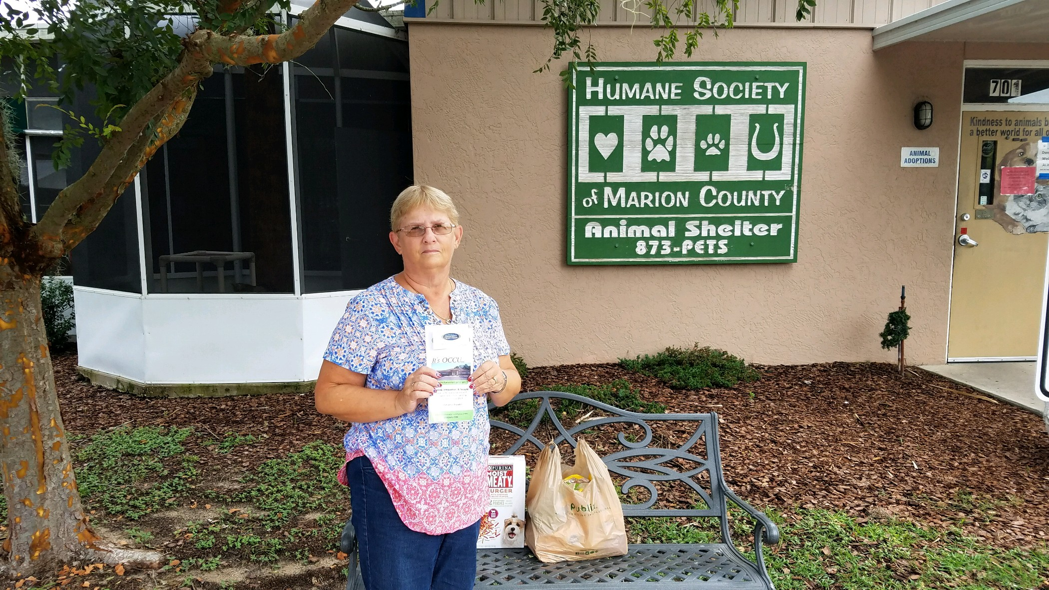 OCCU's Donation to Humane Society of Marion County-Diane Guinn