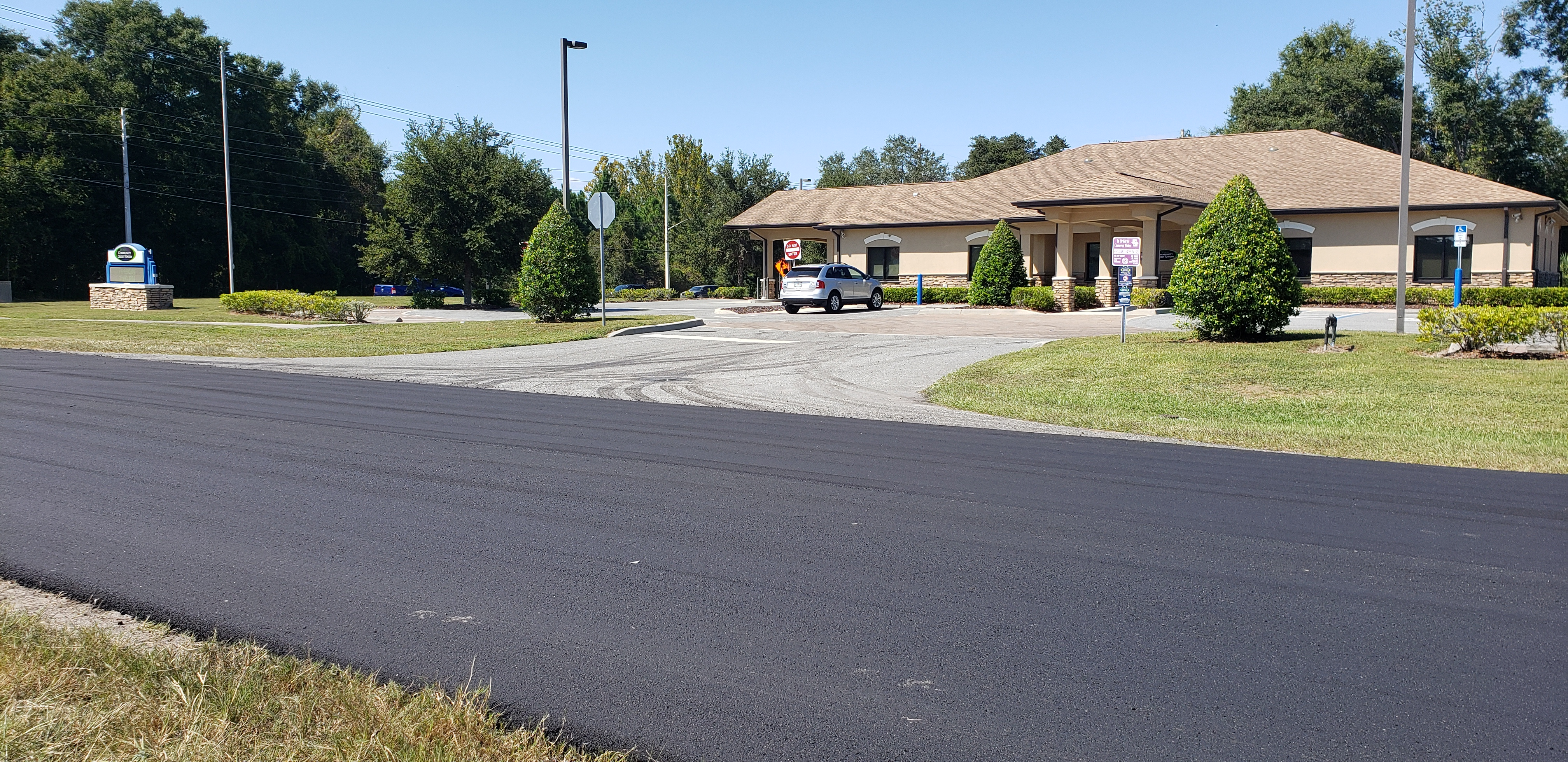 09-24-2019 New pavement in front of OCCU