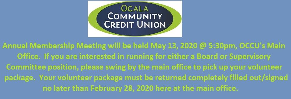 01-22-2020 Annual Membership Meeting Announcement