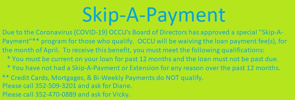 COVID-19 Skip-A-Payment