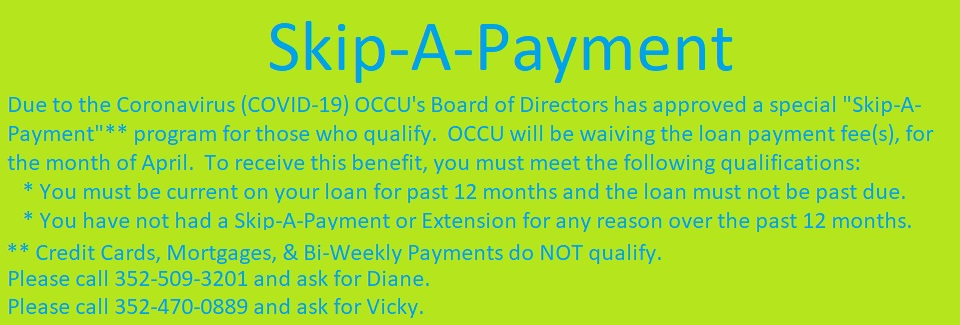 COVID-19 Skip-A-Payment w Fees Waived