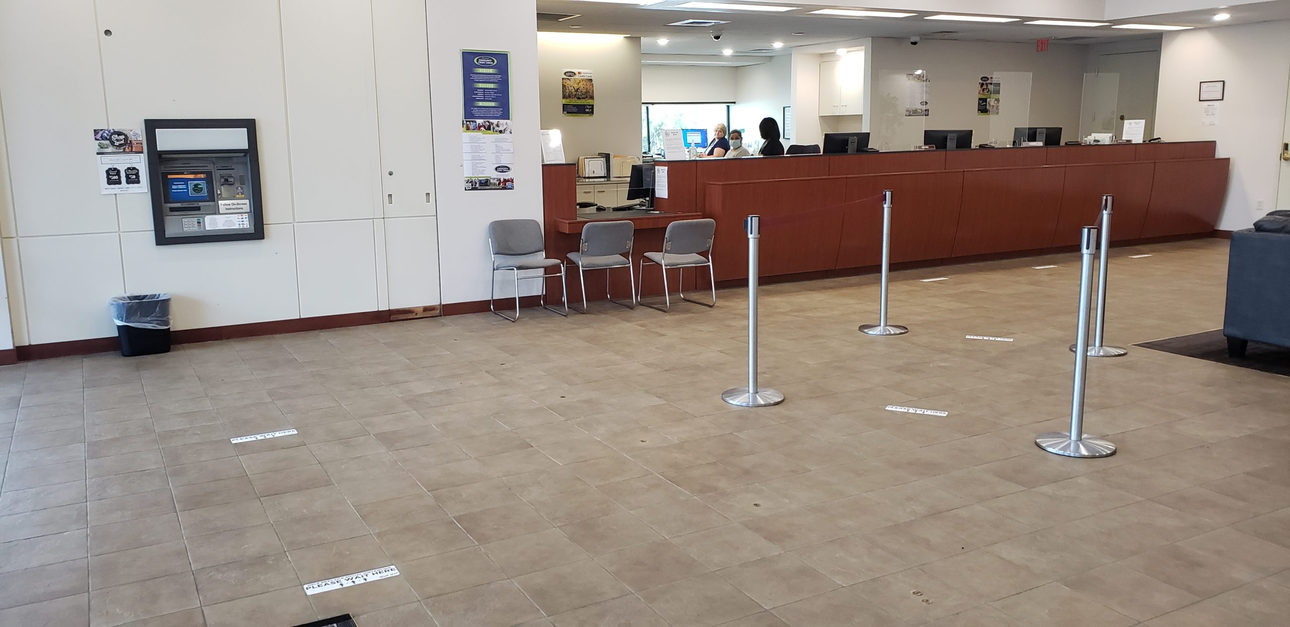06-01-2020 New Sneeze Guards - Marion Oaks Branch Lobby
