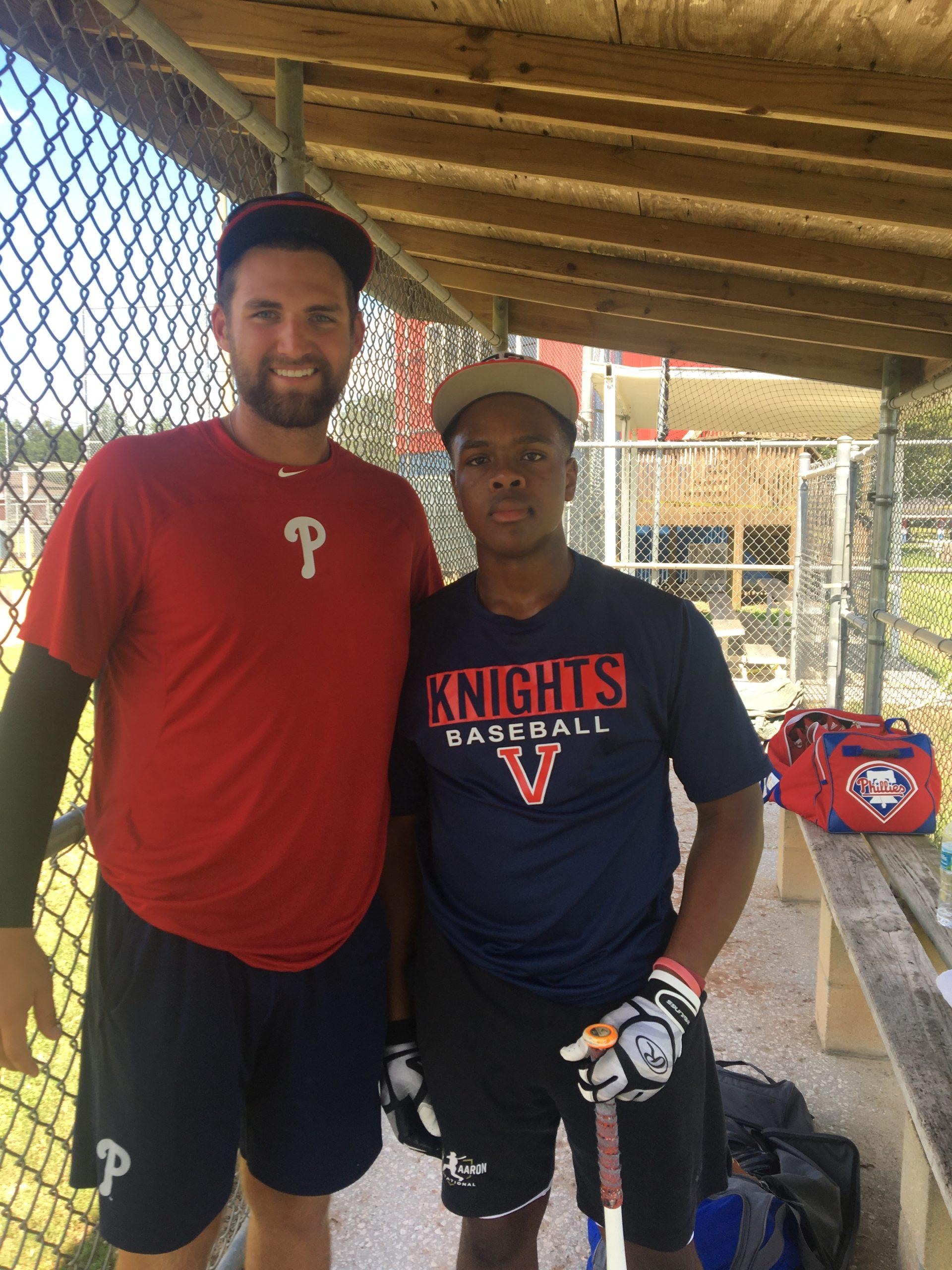 06-22-2020 Kaylin w Phillies Pitcher Jake Perkins