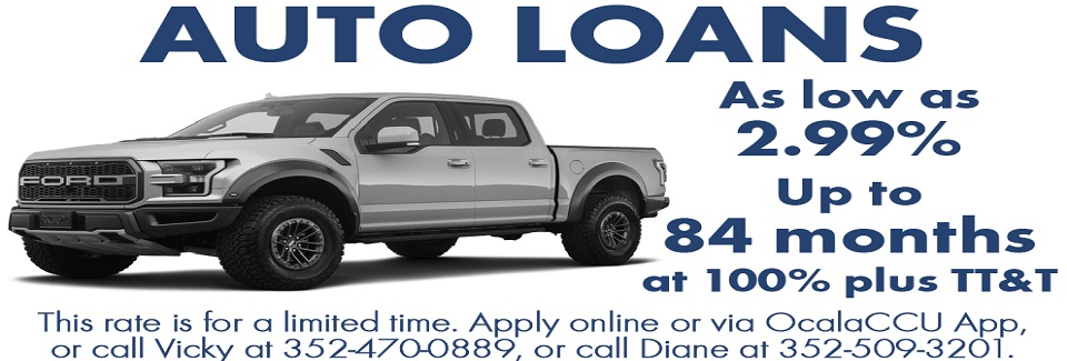 Auto loan rates are as low as 2.99%
