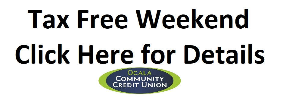 Tax Free Weekend - Click for Details