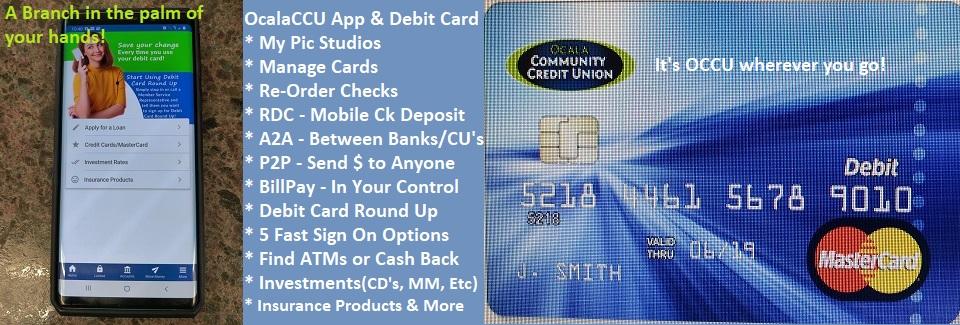 OcalaCCU App & Debit Card