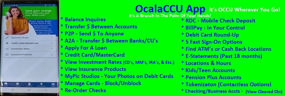 OcalaCCU Mobile App – It's OCCU Wherever You Go!