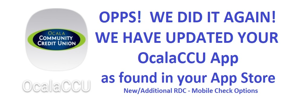 OcalaCCU App - RDC Update with Additional Options