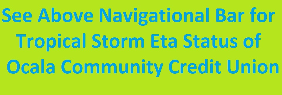 Tropical Strom Eta - Navigational Bar