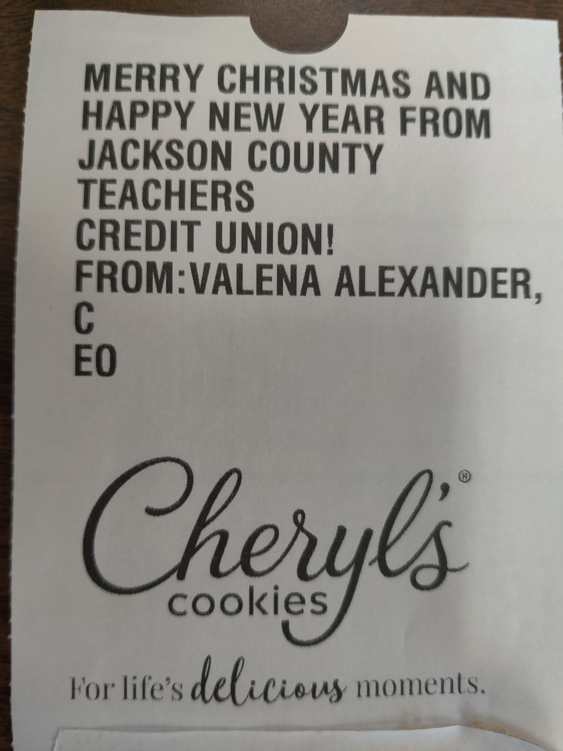 12-08-2020 Gift of Cookies from Valena