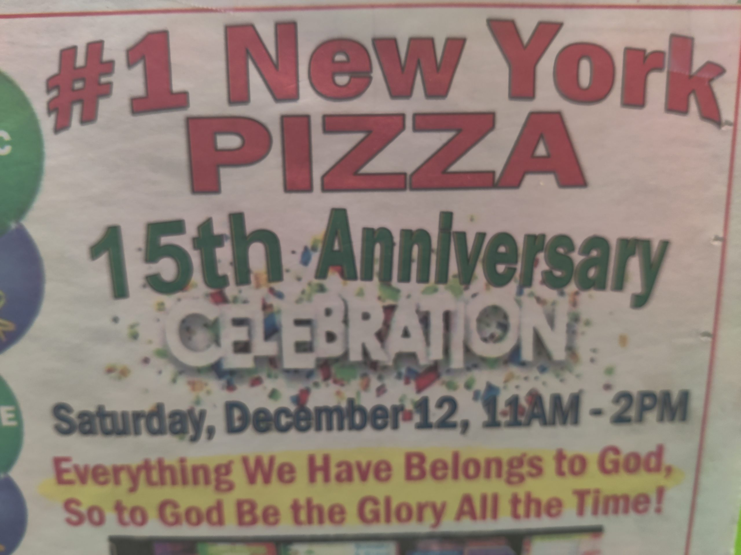 12-10-2020 #1 New York Pizza in Marion Oaks is Celebrating 15yrs in Service - Dinning Room is Open (3)