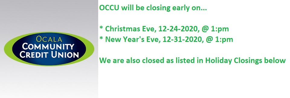 12-22-2020 Closing Early at 1pm