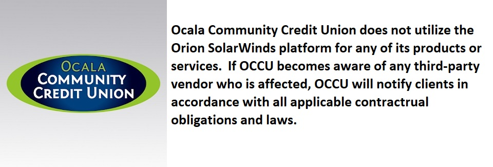 Orion SolarWinds platform notification to members
