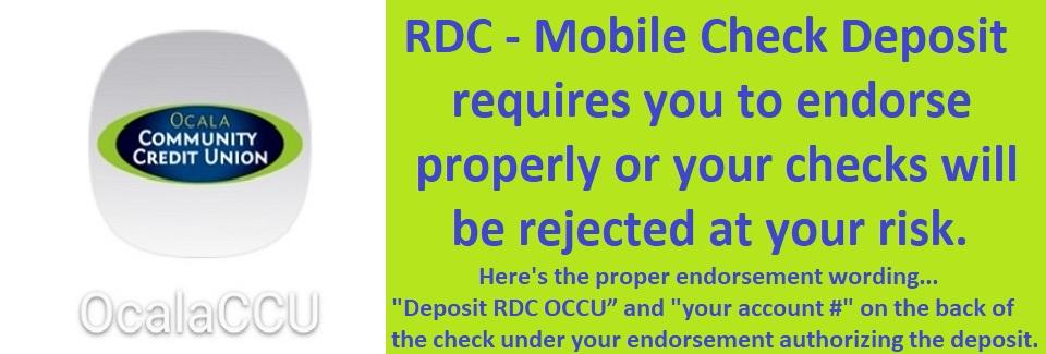 RDC Endorsement Required