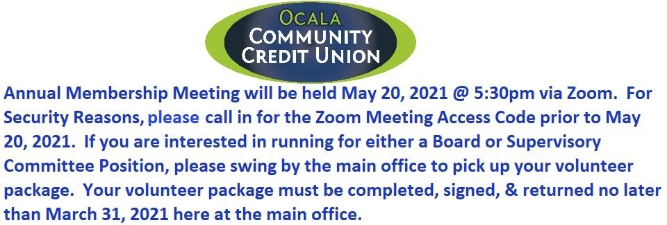 Annual Membership Meeting Announcement