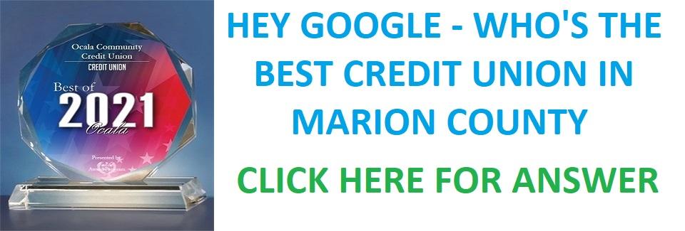 Hey Google - Best CU in Marion County
