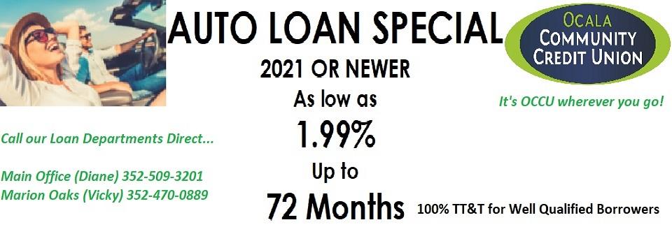 2021 Auto Loan Special