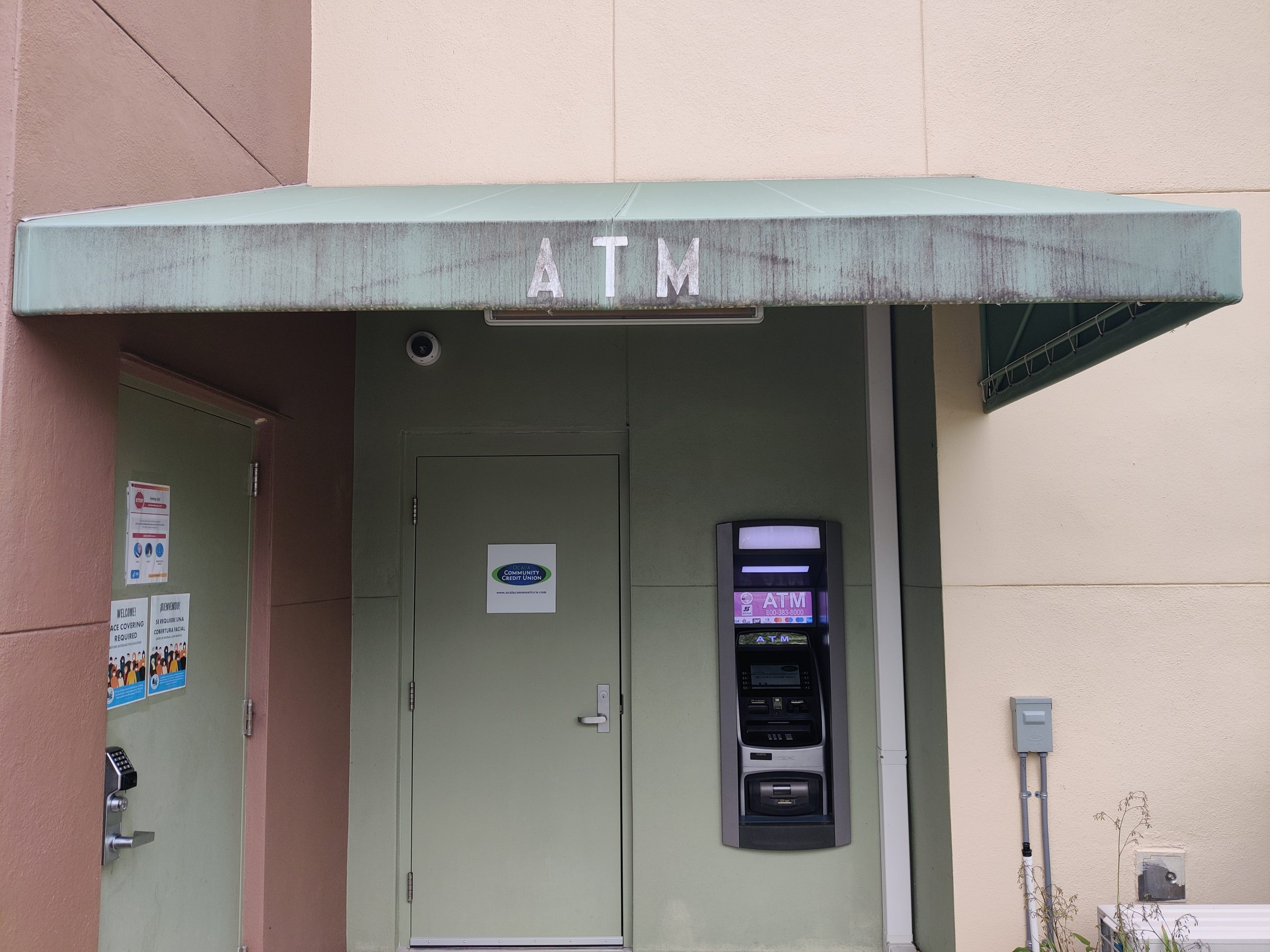 ATM Awning @ Citizen's Center - Before Cleaning