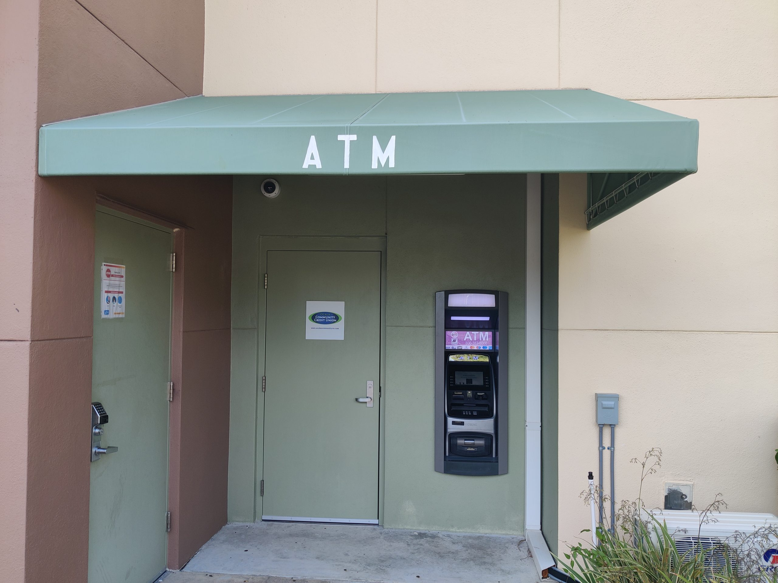 ATM Awning @ Citizen's Center - After Cleaning