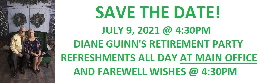 DIANE'S RETIREMENT ON JULY 9, 2021