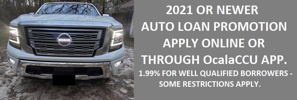 2021 or Newer Auto Loan Promo