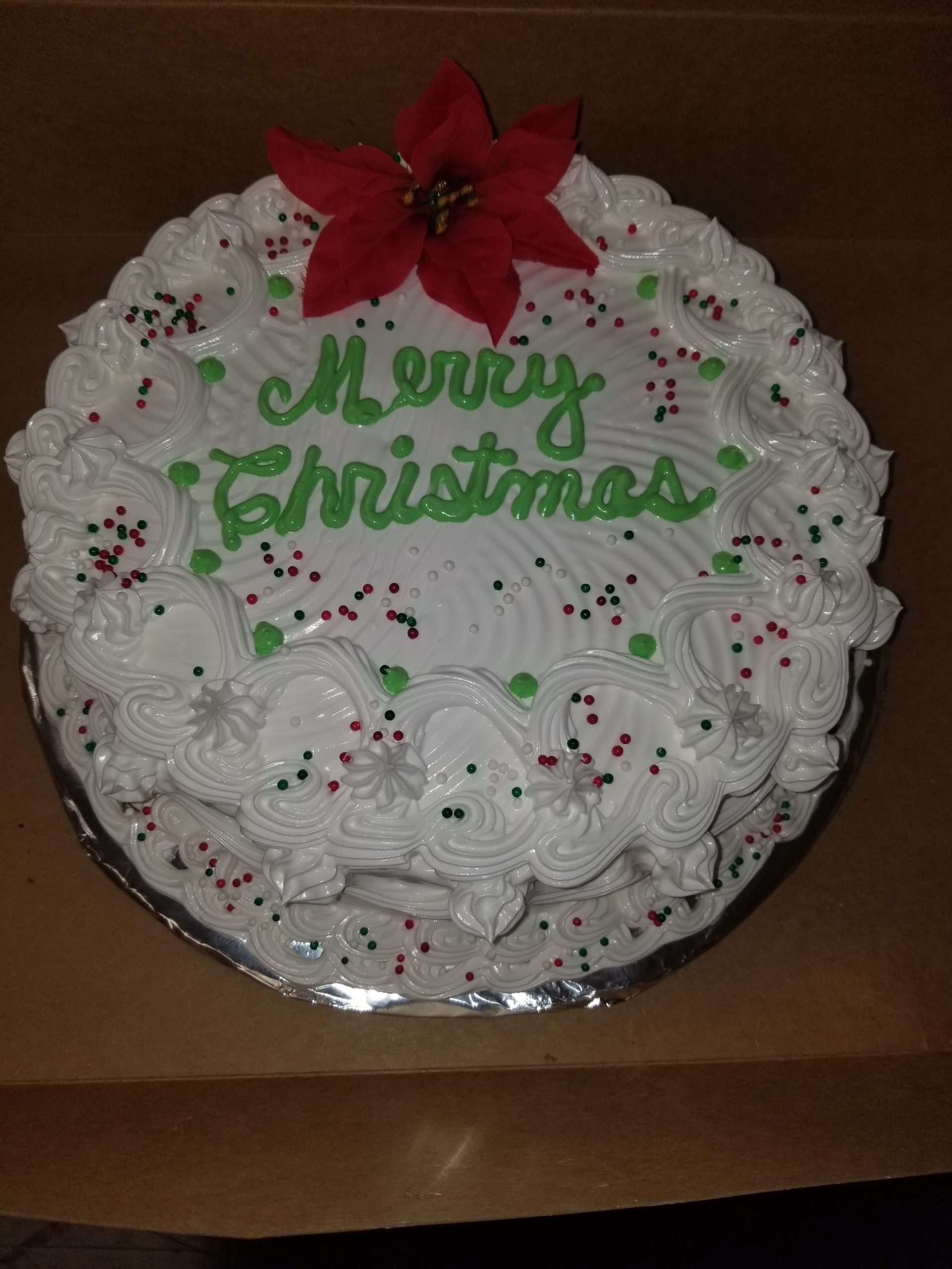 12-18-2018 Merry Christmas Cake - Marion Oaks Staff