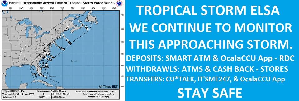 07-06-2021 Tropical Strom Elsa - Monitoring