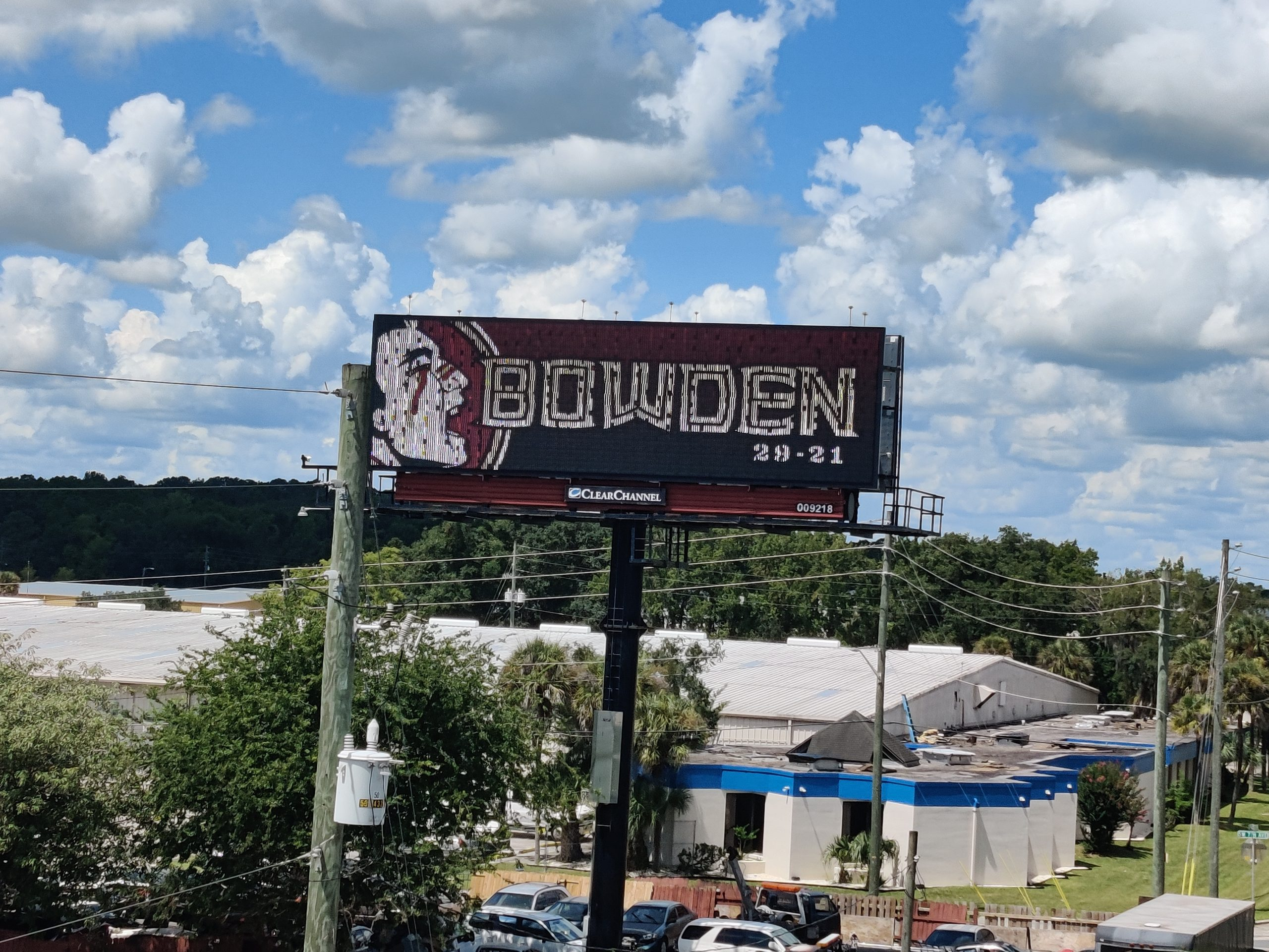 08-11-2021 Bobby Bowden - Honored on Sign