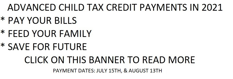 08-2021 Advanced Child Tax Credit Payments